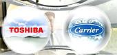 Объединение <b>новейших технологий Toshiba с разветвленной сетью представительств Carrier